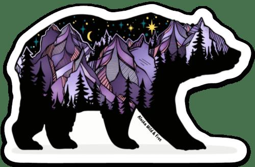 Purple Bear Sticker #bears #stickers #bearsticker