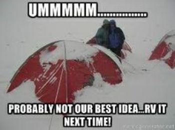 Winter camping fun... #camping #campingmemes #wintercamping