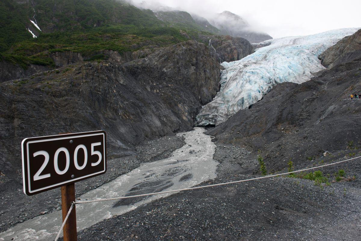 Exit Glacier 2005 Sign, Seward Alaska #glaciers #alaska #gotravel #climatechange
