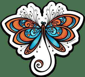 Orange Dragonfly Sticker to represent Alaska's State Insect #orangedragonfly #dragonfly #dragonflies