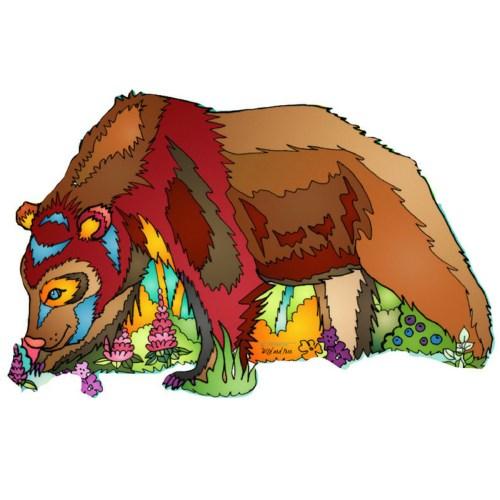 Alaska Brown Bear Sticker #brownbear #stickerlife #alaskastickers