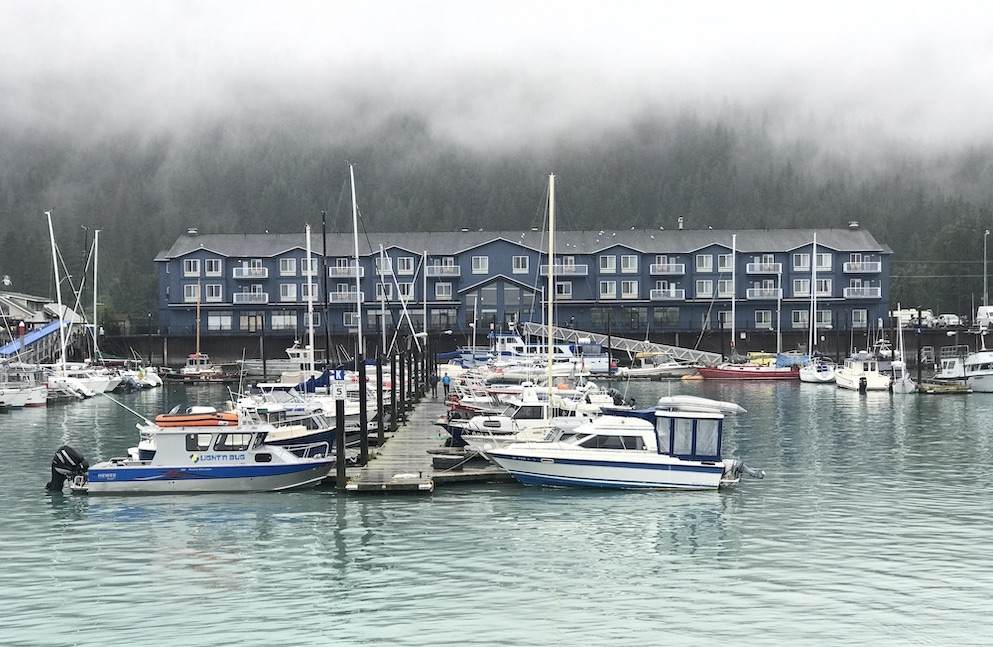 Harbor 360 sits on the water in Seward, Alaska #sewardaalaska #alaska #travelalaska