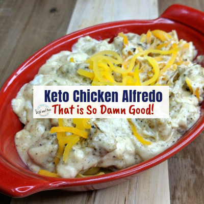 Keto Chicken Alfredo That is So Damn Good