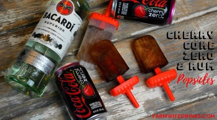 Cherry Coke and Rum Popsicles {Cherry Coke Zero} - Low Carb Boozy Popsicles