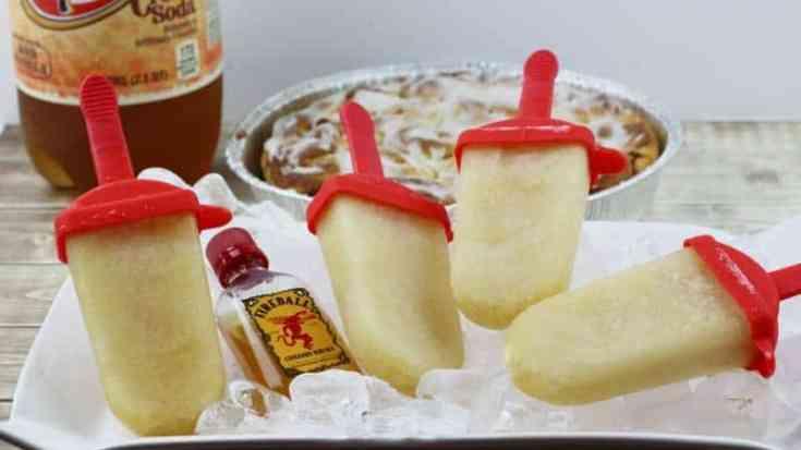 Fireball Whiskey Cinnamon Roll Boozy Ice Pops