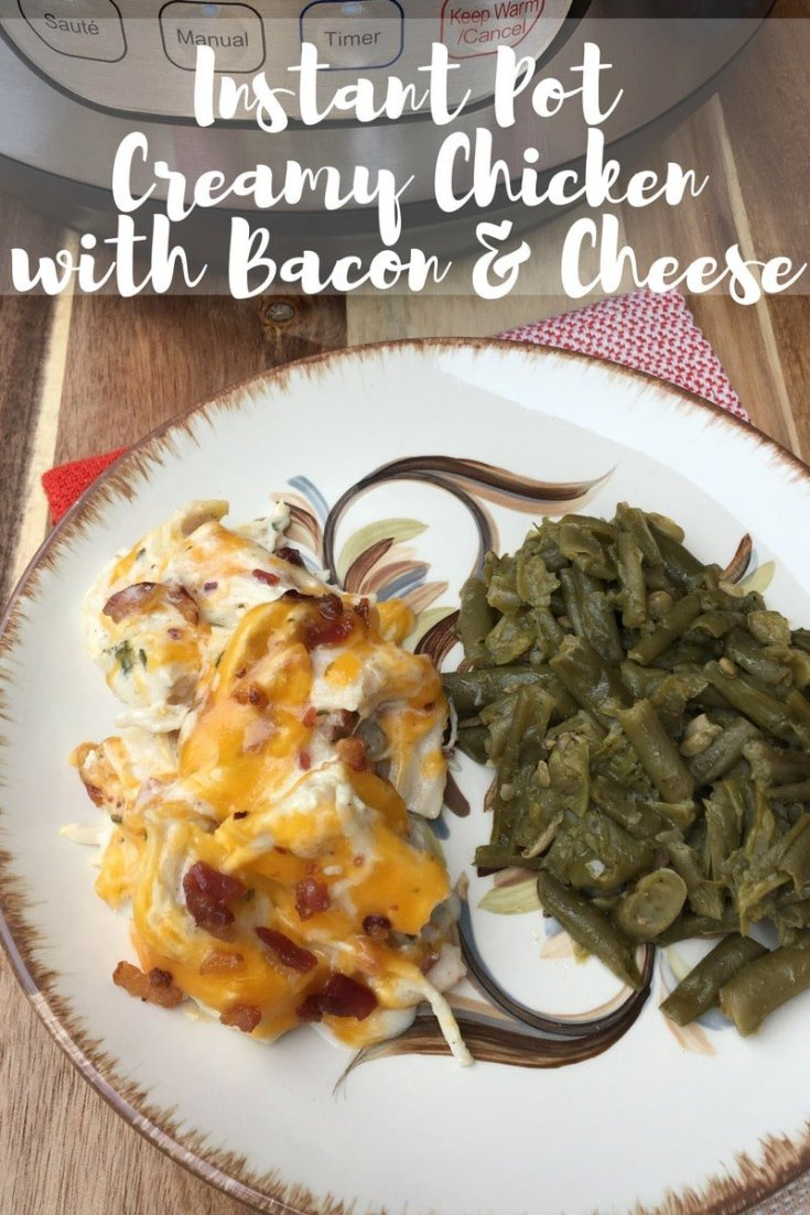 Keto Creamy Chicken with Bacon & Cheese