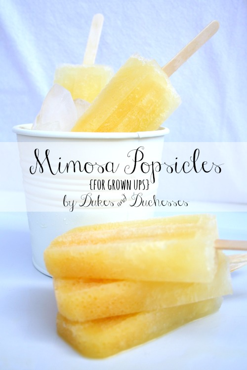 Mimosa Popsicles {for Grown Ups}