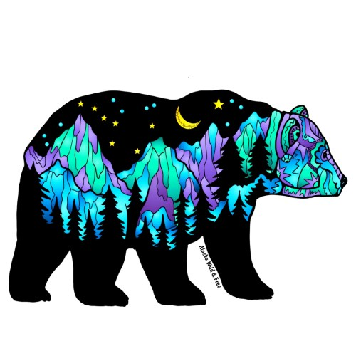 Colorful Big Dipper Bear Sticker #bearsticker #stickers #bears