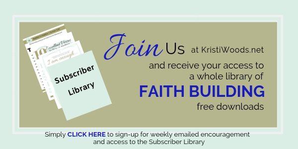 KristiWoods.net sign-up form