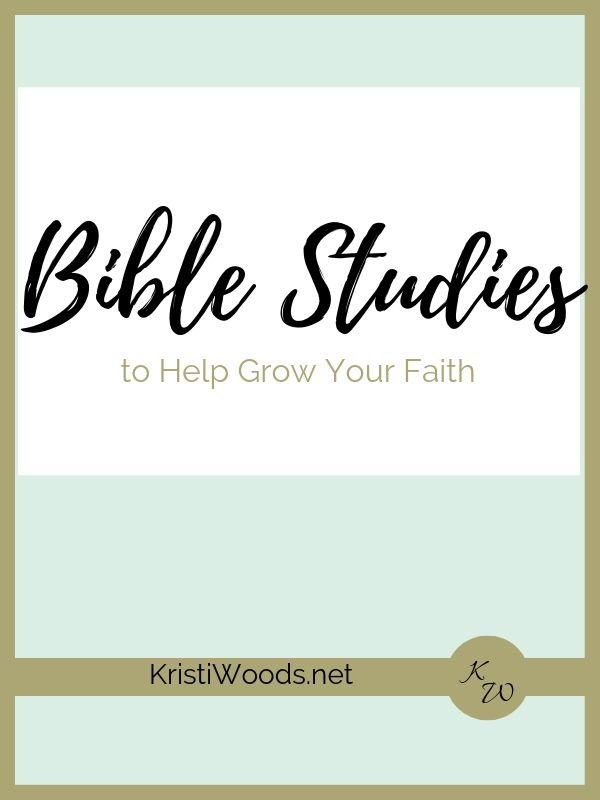 Light green and white background announcing Bible studies to help grow your faith.