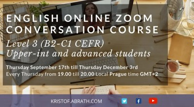 English Online Zoom Conversation Course Level 3 B2 C1 Upper int advanced
