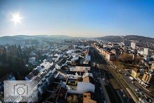 Stadtansicht Lörrach - Blick vom Dach des Hotel Stadt Lörrach (noch im Bau)