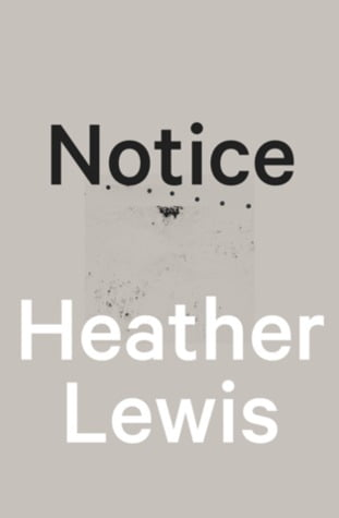 Notice by Heather Lewis Book Cover