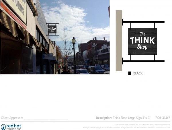 Think Shop Large Sign Black