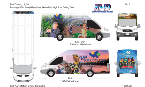 York County South Carolina Ford Transit Wrap