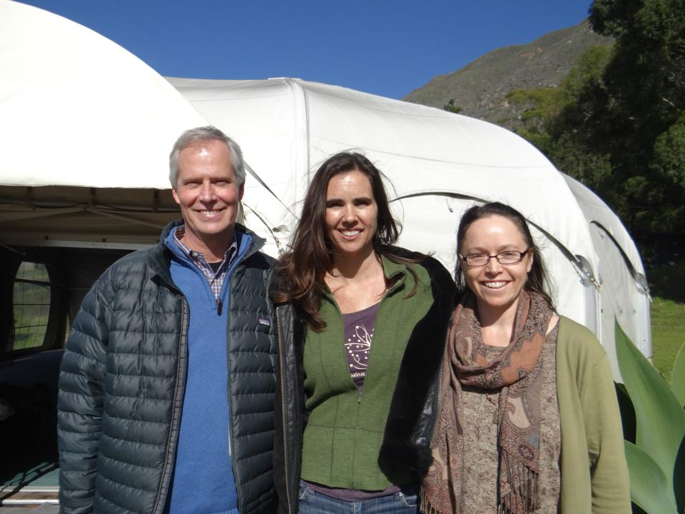 Kristy Arbon with Chris Germer and Kristin Neff