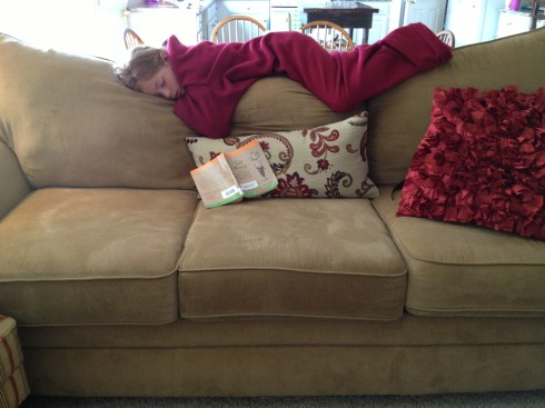 Sometimes the pool and the library books make for a perfect nap!