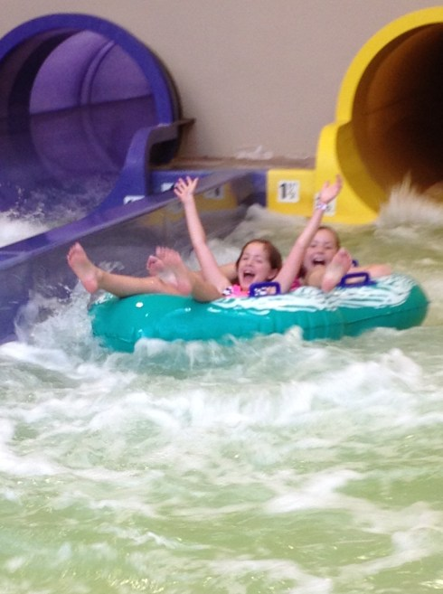 Ruby and Molly LOVED all the slides at The Wilderness