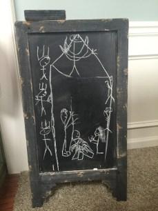 Mack drew this manger scene.