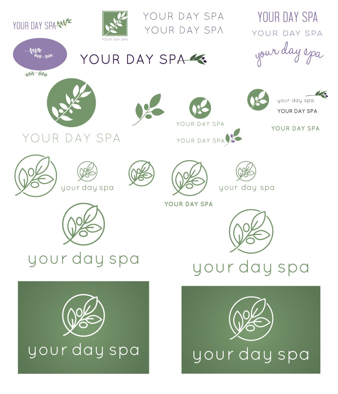 YourDaySpa-logo sketches