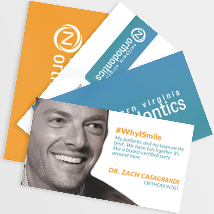 Northern Virginia Orthodontics Business Cards