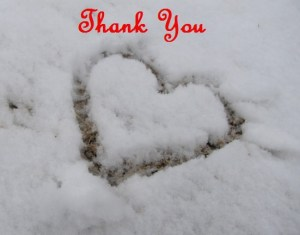 Kristy K. James heart in snow