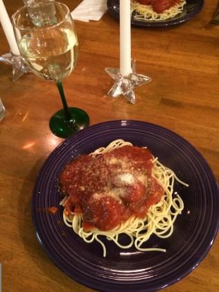 Spaghetti recipe found on Pinterest