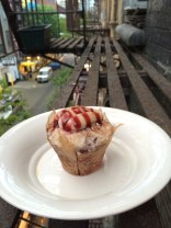 Cupcakes on the fire escape