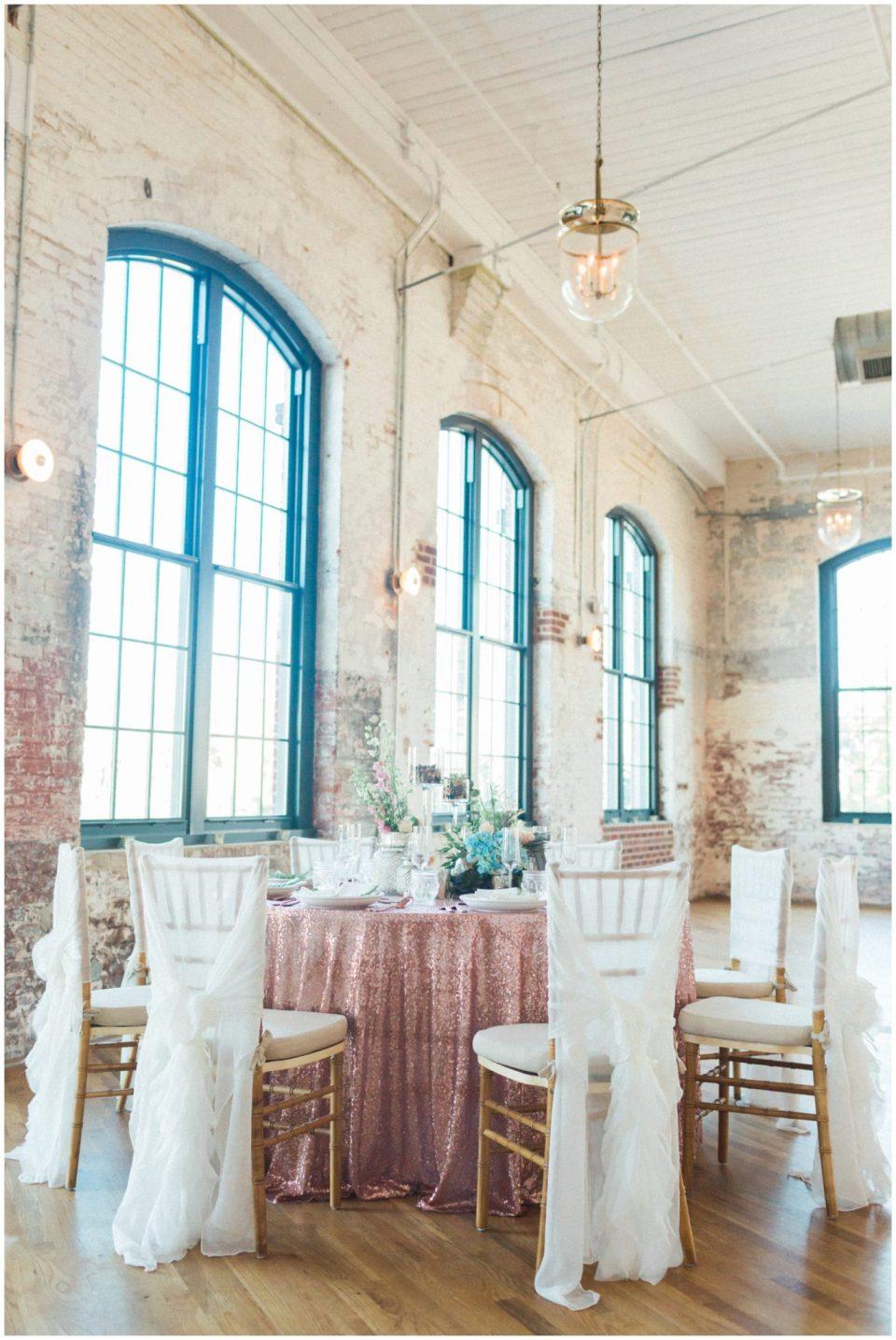 Wedding decor at The Cedar Room. Charleston SC