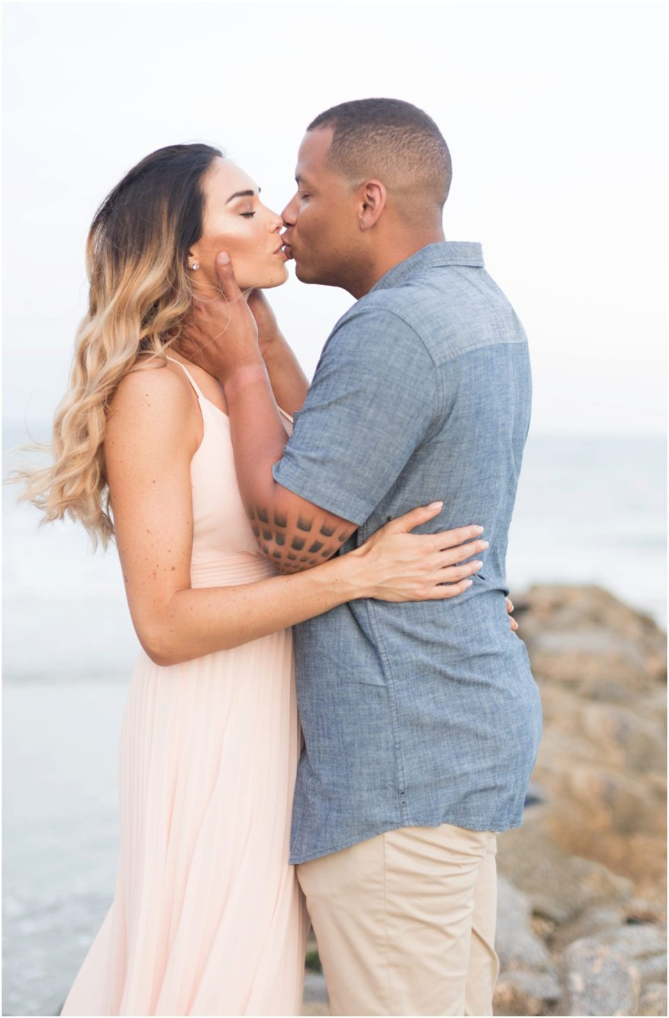 Blush pink and Blue Engagement Session