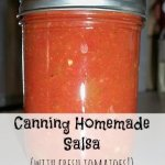 Canning Homemade Salsa with Fresh Tomatoes