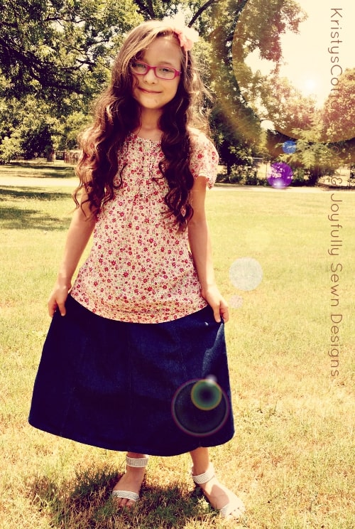 Back-to-School Denim Skirt Review & Giveaway from Joyfully Sewn Designs!