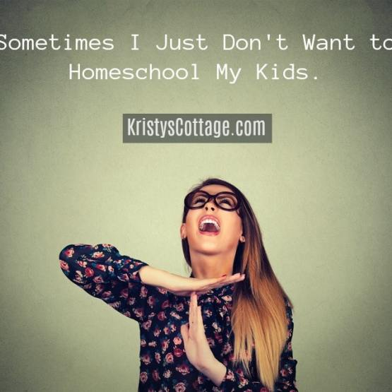 Sometimes I Just Don't Want to Homeschool My Kids | Kristy's Cottage blog
