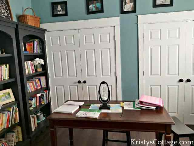 Let's Talk About The Homeschooler's Dining Room Table... You Know the One! | Kristy's Cottage blog