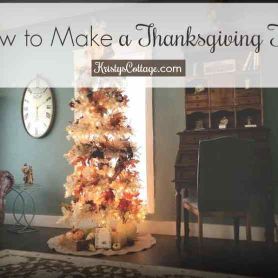 How to Make a Thanksgiving Tree | Kristy's Cottage blog