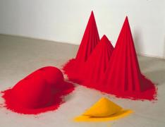 As if to Celebrate, I Discovered a Mountain Blooming with Red Flowers 1981 Anish Kapoor born 1954 Purchased 1983 http://www.tate.org.uk/art/work/T03675