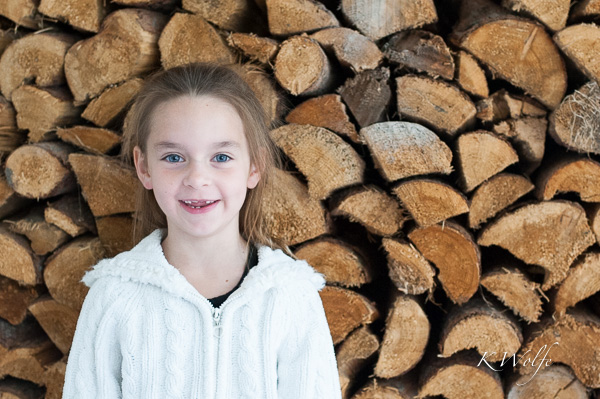 7 year old Hannah with her toothless grin.