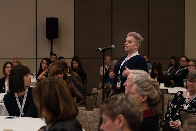 A parent advocate speaks at the Children's Health Canada Conference.