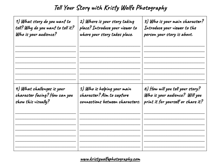 Find your photo voice to tell your own story with Kristy Wolfe Photography