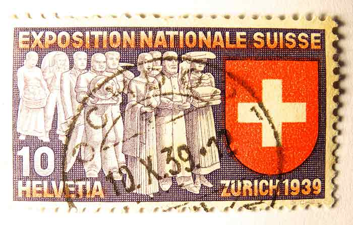 Old Swiss Stamp