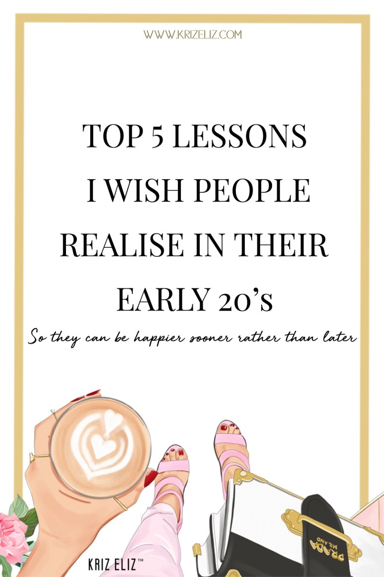 Top 5 lessons I wish people know in their 20s
