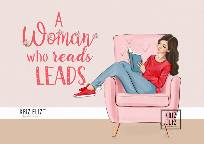 A woman who read leads - Illustration by Kriz Eliz