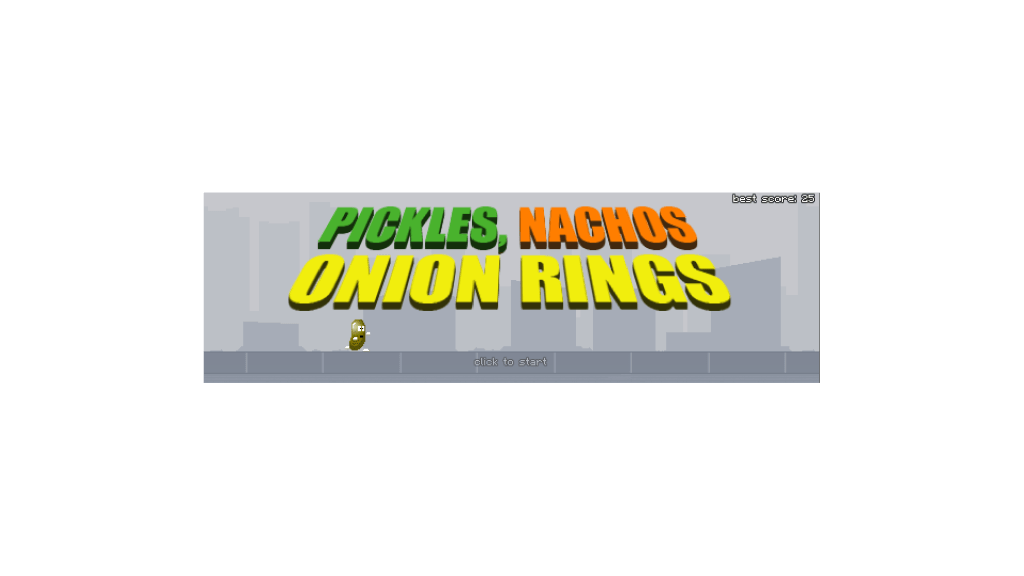 Pickles, Nachos, Onion Rings - title screen