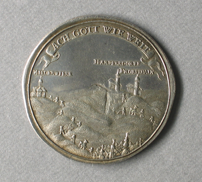 Medaille mit Fluchtkirche Probsthain