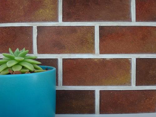 KRL décoration peinture imitation mur de briques