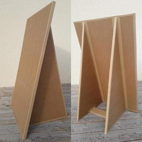 Support de communication :Chevalet en carton