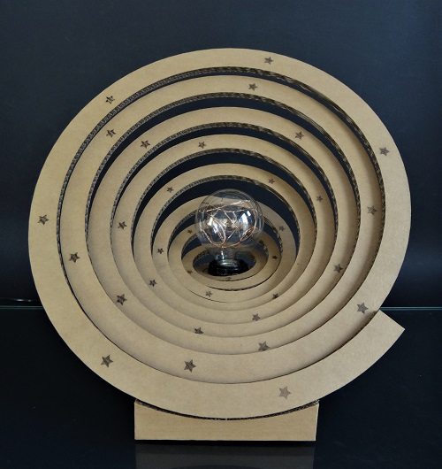 "KRL - Lampe en carton ""saturne"""""
