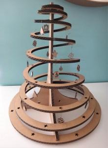 """Sapin de noël en carton """"La spirale"""""""