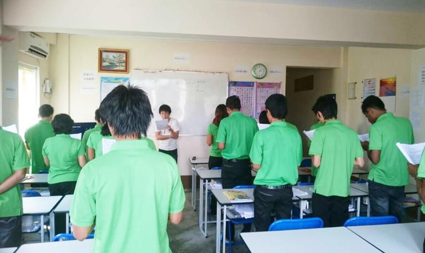 ミャンマーの日本語学校・授業の様子
