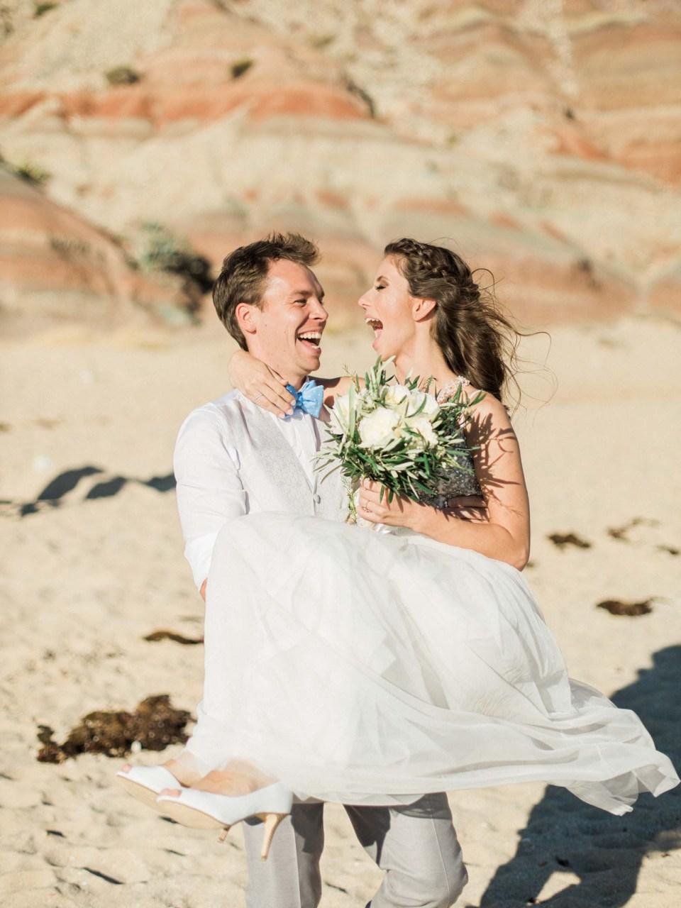 Algarve Elopement   Praia da Luz, Portugal   Married Morenos
